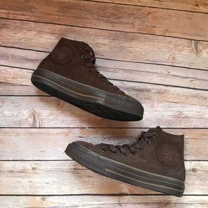 Converse High Top Brown Suede Chucks 4.5 6.5 Shoes